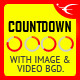 CountDown With Image or Video Background