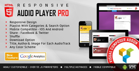 HTML5 Audio Player PRO for Visual Composer Addons Bundle