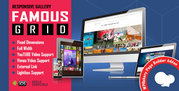 Famous - Responsive Image & Video Grid Gallery for WPBakery Page Builder (formerly Visual Composer)