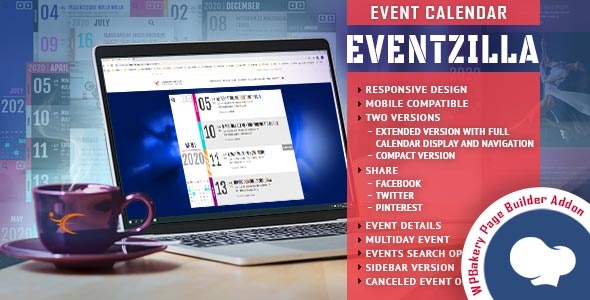 EventZilla - Event Calendar - Addon For WPBakery Page Builder (formerly Visual Composer) - for Visual Composer Addons Bundle
