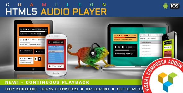 visual composer addons - chameleon HTML5 Audio Player
