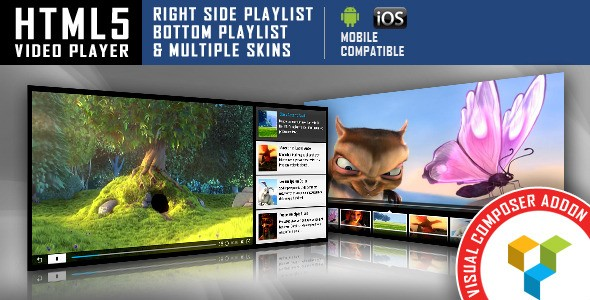HTML5 Video Player for Visual Composer Addons Bundle