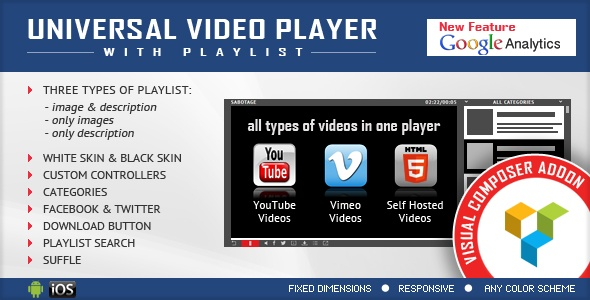 Universal Video Player for Visual Composer Addons Bundle